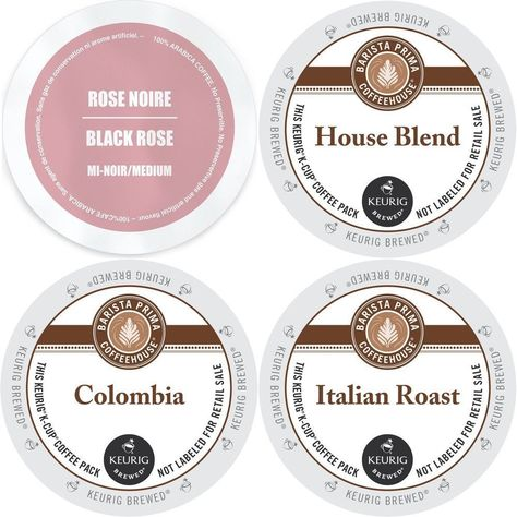 Barista Prima K-Cup Variety Pack: Barista Prima's Colombia Italian Roast House Blend and Faro Rose Noire Medium Roast