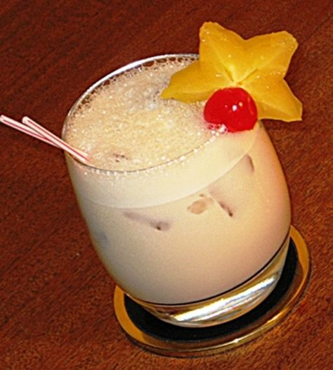 Jamaican Quaalude Ingredients: 1 oz. Kahlua 1 oz. Malibu Coconut Rum 1 oz. Bailey's Irish Cream .5 oz Amaretto .5 oz Frangelico 1 oz. Half & Half Slice of Star fruit and or cherry