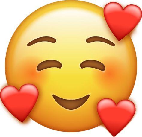 Smile Emoji With Hearts [Free Download All Emojis] | Emoji Island