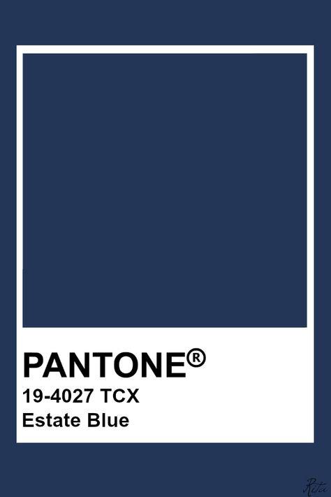 Pantone Estate Blue