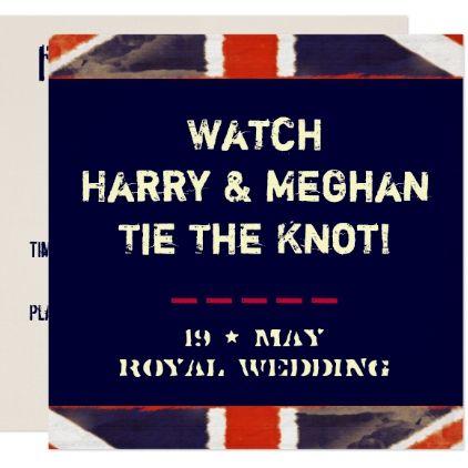 Royal Wedding Watch.Harry Meghan Royal Wedding Watch Party Invitation Zazzle Com