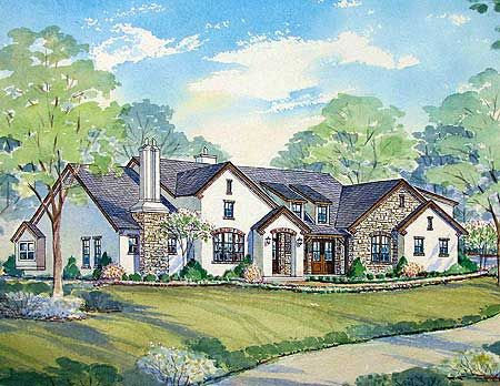 Plan W54114BH: European, Traditional, Corner Lot, Hill Country House Plans  U0026 Home Designs | New House Ideas | Pinterest | Country Houses, Corner And  ...