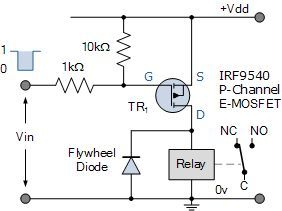 p channel mosfet relay switch circuit powers in 2019 n channel p channel mosfet p channel power mosfet switch tutorial