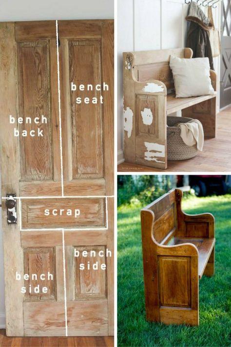 Old Door, New Bench