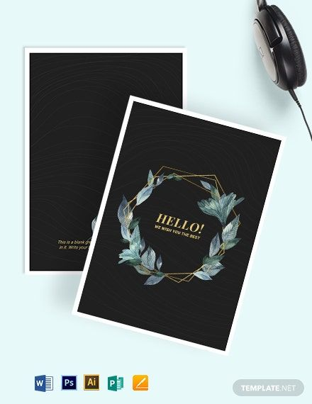 Blank Greeting Card Template Word Psd Apple Pages Publisher Illustrator Blank Greeting Cards Greeting Card Template Greeting Cards