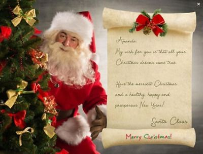 Details About Santa Claus St Nick Papa Noel Letter Christmas English Or Spanish E Mailed In 2020 Christmas Tree Pictures Papa Noel Picture Letters