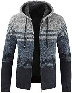 Hommes Hiver Slim à Capuche Chaud Manteau Sweat à capuche Manteau Veste Outwear Sweater