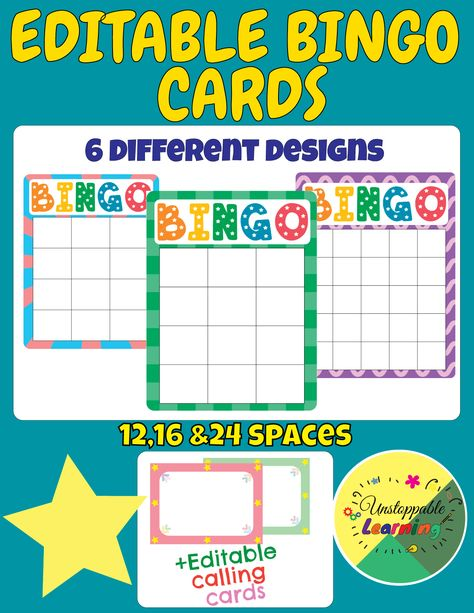 Bingo Everybody Knows How Attractive Bingo Game Can Be For Students This Editable Bingo Cards Set Will Let You Personalize Y Bingo Template Bingo Cards Bingo