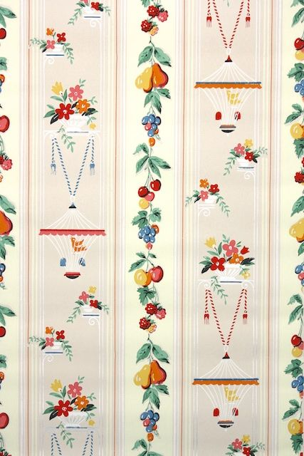 1940s Kitchen Vintage Wallpaper In 2021 Vintage Wallpaper Wallpaper Wallpapers Vintage