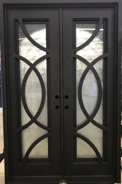 Bianca 60 5 X 93 25 Double Iron Door 7404r 7405l Home Center Outlet In 2020 Iron Doors Wrought Iron Doors Door Gate Design