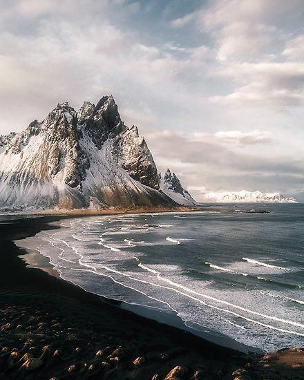 Stokksnes Icelandic Mountain Beach Sunset Landscape Photography Poster By Michael Schauer In 2020 Sunset Landscape Photography Sunset Landscape Landscape Photography Tips