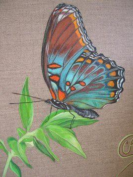 Papillon Peinture Animalière à L Acrylique En 2019