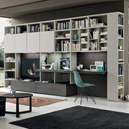 foto Composizione soggiorno libreria con ampi spazi e piano ...