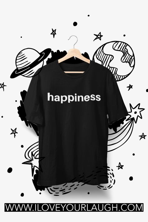 Happiness. One bold word to proclaim to the world your desire for your life. Simple in its design, but powerful in its intention. Wear our Happiness T-Shirt and spread your positive energy to everyone around you. Or gift it to a loved one and deliver some happiness to someone who needs it today!This t-shirt is super soft, luxurious, and crafted in an eco-friendly facility! #iloveyourlaugh