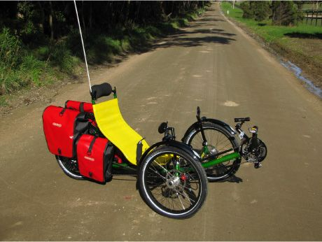 Recumbent Bike Trike Tadpole Bicycle With Panniers Recumbent