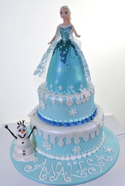 21 Disney Frozen Birthday Cake Ideas And Images Idejos Elsa