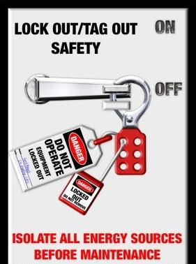 safety poster lock out and tag out