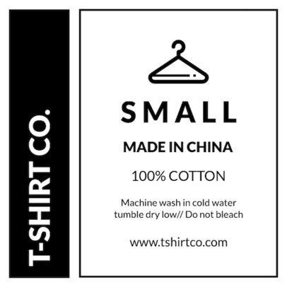 Clothing Care Label Template Placeit Clothing Label Design Template For A T Shirt Tag Clothing Care Label Clothing Labels Design Label Templates