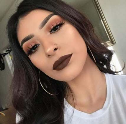 Makeup Looks Dark Lipstick Brown Skin 30 Ideas Makeup Pinterest