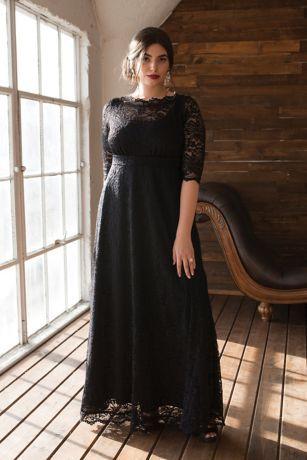Leona Lace A-Line Plus Size Gown Style 11180902, Pinot Noir ...