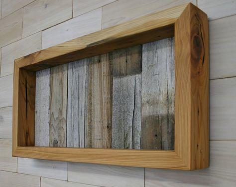 Reclaimed Cedar Shadow Box 22 X 10 X 2 With Clear Acrylic Front Large Shadow Box Frame Wood Shadow Box Shadow Box