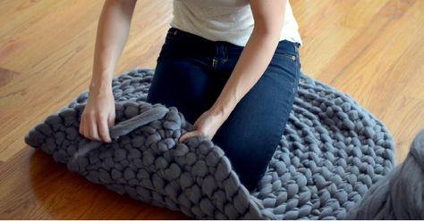 Fabriquez Un Tapis En Laine Geante Seulement Qu Avec Des Noeuds