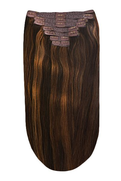 Extra Thick Double Weft Clip In Hair Extensions 100 Remy Human Hair