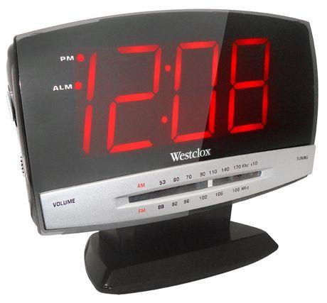 Westclox Clock Radio Black With Images Digital Clock Radio
