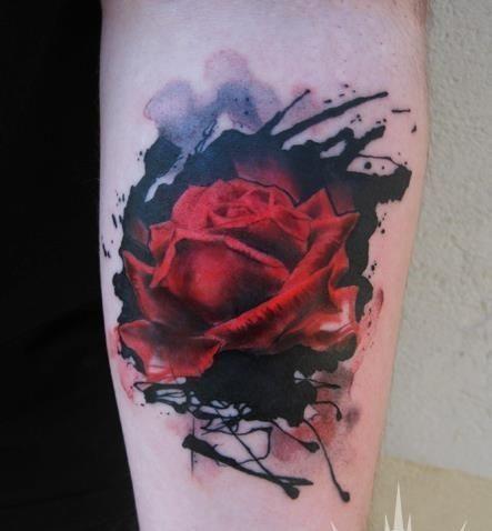 Soyez Inspiree Avec Ce Tatoo Modele Tatouage Rose Rouge