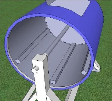 Picture of How to Make a Hand Crank Washing Machine or Compost Tumbler