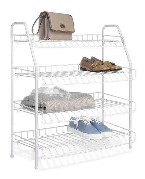 """27.9"""" H Four Shelf Shelving Unit (Set of 4)"""