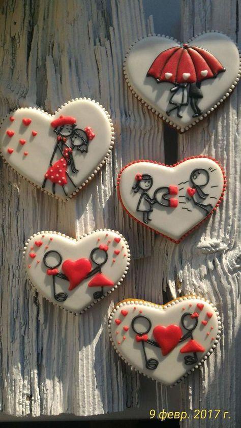 40 ідей декорування пряників до Дня Святого Валентина | Ідеї декору