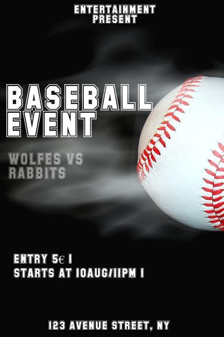 Pin On Baseball Poster And Banner Templates