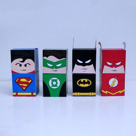 DIY Printable Superhero Cupcake Holder Box Set