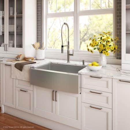 Kraus Khf200 30 1650 41 Kitchen Design Farmhouse Sink Kitchen New Kitchen Cabinets