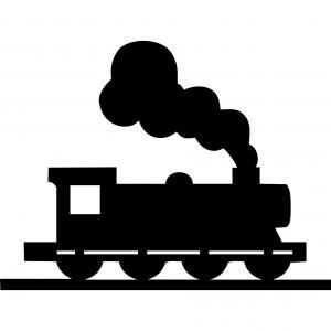 Photostock Vector Simplified Passenger Train Silhouette Side View Flat Vector Orangiausa Train Drawing Postage Stamps Crafts Train Silhouette