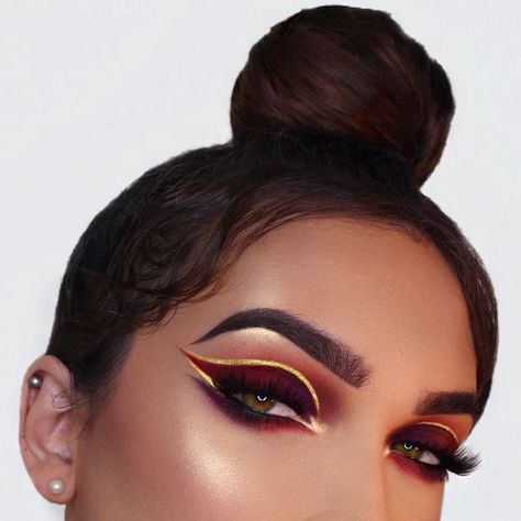Flashy, easy on point brows.