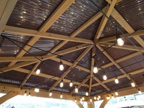 Yardistry Wood Gazebo With Aluminum Roof Costco Aluminum Roof