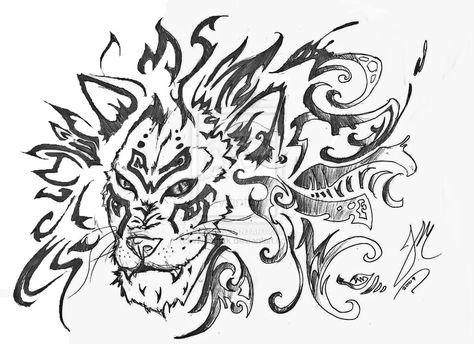 38122bc07 Awesome tribal lion head tattoo design also ideas rh pinterest