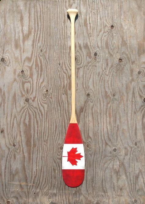 Vintage Canadian Flag Paddle 48 Paddle Decorative Cottage Gift Nautical Decor Canoe Paddle Wedding Gift Wall Hanging Decorative Oar Cottage Gifts Canadian Decor Oar Decor