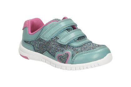 Clarks Azon Maze Trainers in Turquoise
