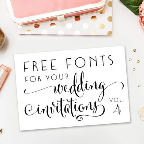 A new collection of completely free fonts for your wedding invitations, DIY projects, blogging, and more!