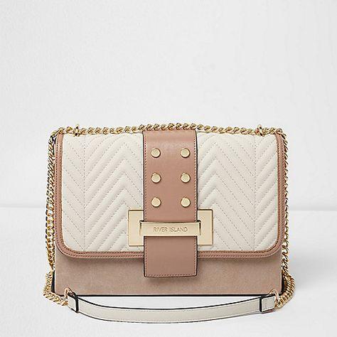 New Women/'s Faux Leather Quilted Handbag Satchel Crossbody Chain Shoulder Bag