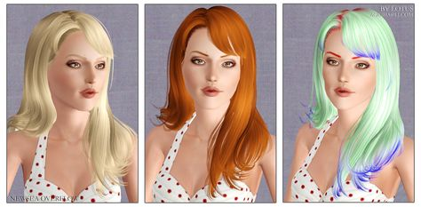 Newsea`s Overflow hairstyle retextured by Lotus - Sims 3 Hairs