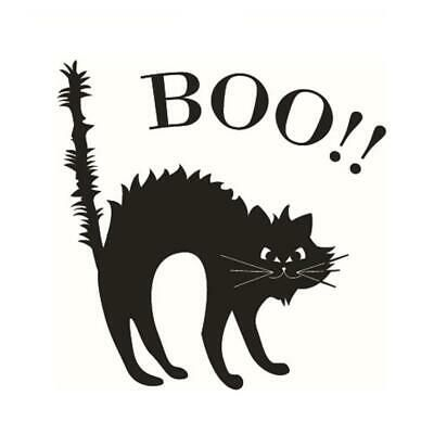 Halloween Favor Large Scary Black Cat Window Sticker Nice Deco