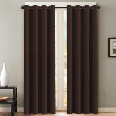 Alcott Hill Howser Solid Room Darkening Thermal Grommet Curtain