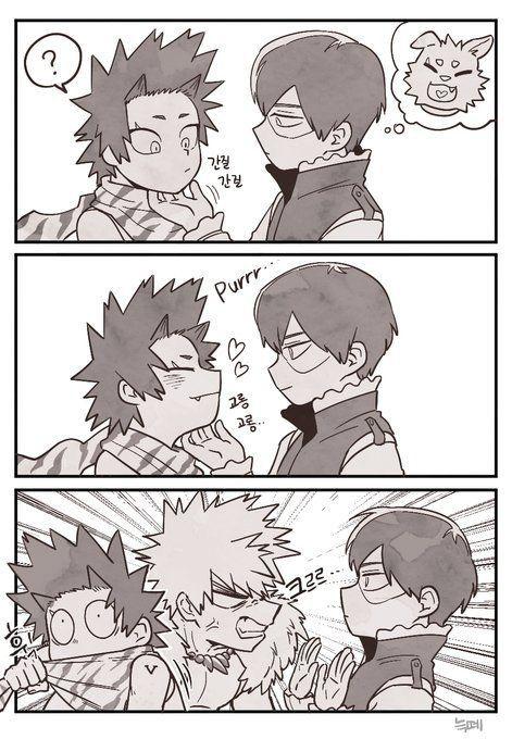 Cri Bakugou jealous for Kirishima!!! Follow me Trashy_Senpai