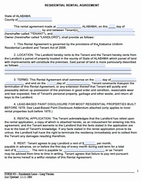 Rental Agreement Template Pdf Unique Free Alabama Month To Month Rental Agreement P Rental Agreement Templates Lease Agreement Free Printable Lease Agreement