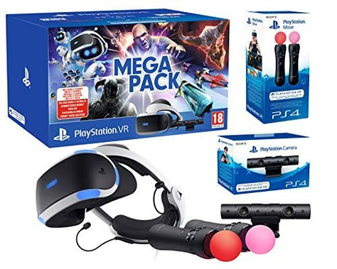Playstation Vr2 Mega Pack Skyrim Doom Wipeout Astro Bot Vr Worlds Paire Twin Move Controllers Playstation Skyrim Astro
