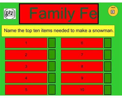 Rules To Make Christmas Family Feud  WinterChristmas